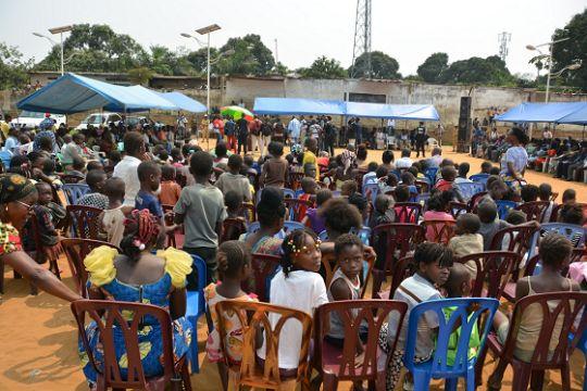 Les NU en #RDC 201607  Lancement de la campagne de vaccination réactive contre la fièvre jaune à Kisenso (Kinshasa)