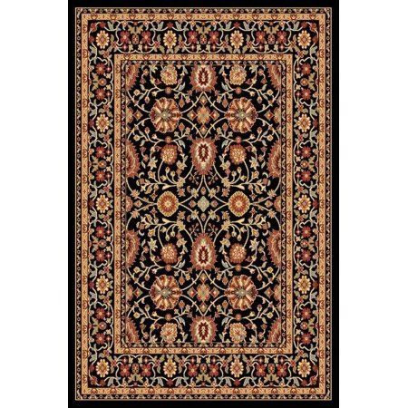 Classic Yazd 5.3X7.7 2803-090 Blk-Blk Rectangle Rug, Multicolor