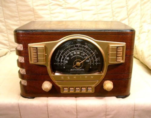 old antique wood zenith vintage tube radio restored working classic black dial ebay auction antique classic black