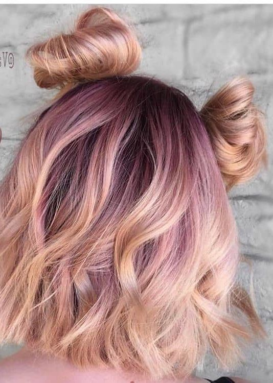 37 Short Pastel Hair Color Ideas To Refresh Your Casual Look Short Pastel Hair Color Ideas These 37 Short Pastel H Hair Color Rose Gold Hair Styles Peach Hair