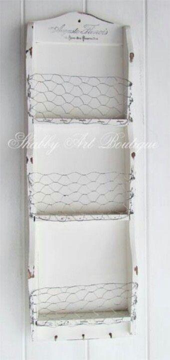 Chicken wire shelf