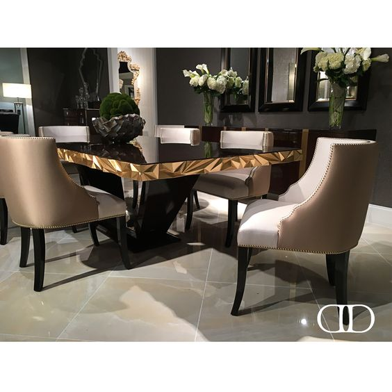 Dorya's stunning I.1069 Velo Side Chairs perfectly complement M.1085 Jager Dining Table #Dorya #DoryaInteriors #LuxuryFurniture #LuxuryLifestyle #Luxury #Trend #Trending #Fashion #Style #Design #InteriorDesign #hpmkt2016 #WhatsNew