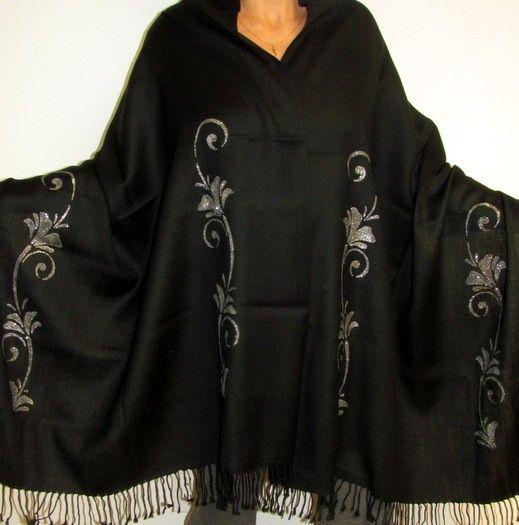 Designer Five Star Warm Shawl Wrap