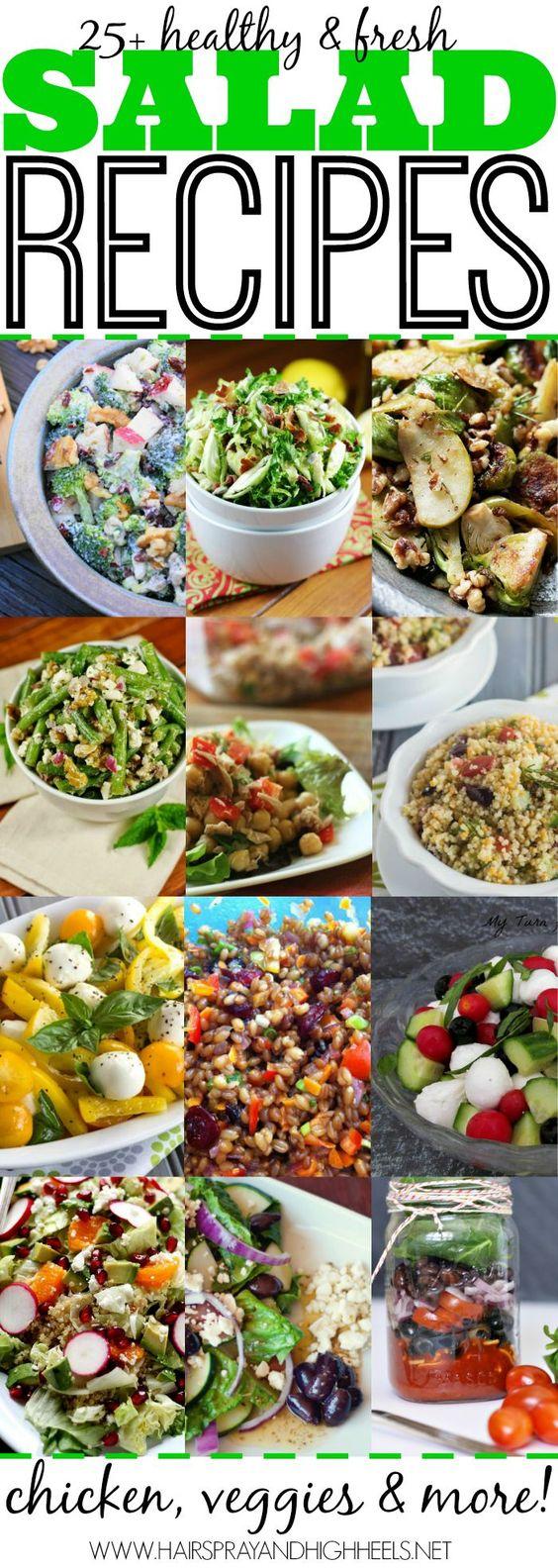 25  Salad Recipes  via