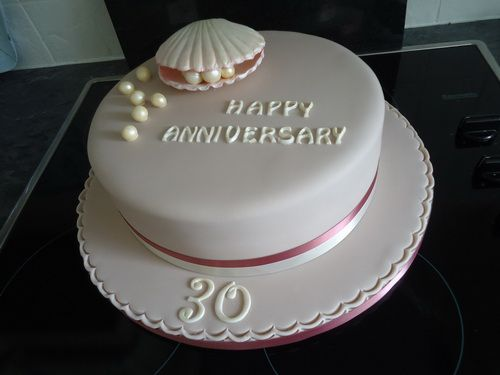 easy anniversary cake with pearls Wedding Anniversary Cakes