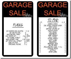 Garage sale game