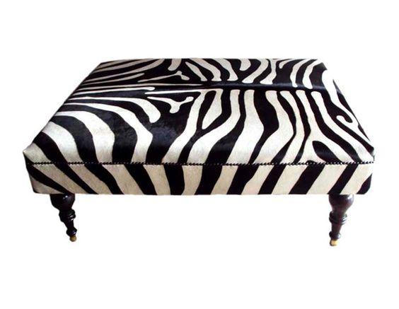 The Beautiful And Timeless David Ross Archipelago Zebra Ottoman David Ross Pinterest Black