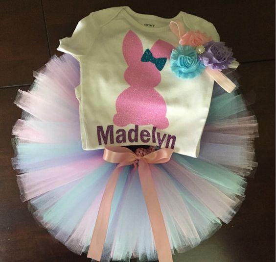 Personalizada traje de Pascua niñas mi por ASweetBabyBoutique