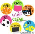 Specials Signs (Bright & Clear Decor) product from LadybugsTeacherFiles on TeachersNotebook.com