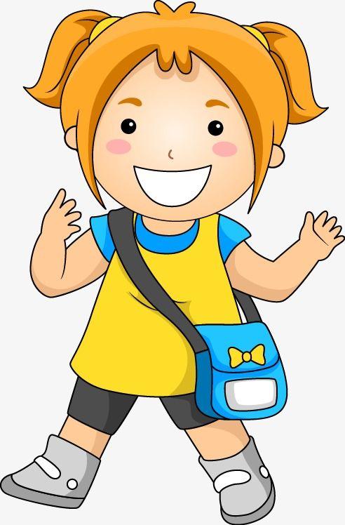 ومن ناحية رسم الكرتون نمط مدرسة البنات School Cartoon Kids Clipart Kids Going To School