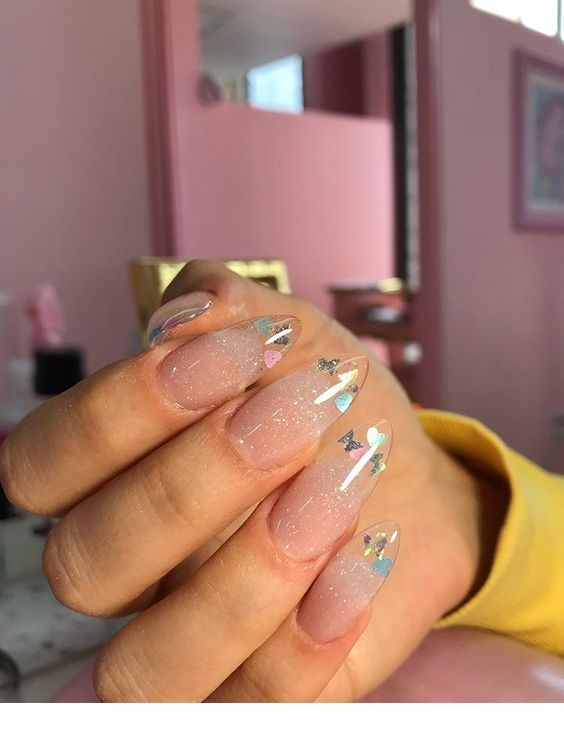 Butterflies On Acrylic Nails Chicladies Uk In 2020 Kawaii Nails Pretty Acrylic Nails Best Acrylic Nails