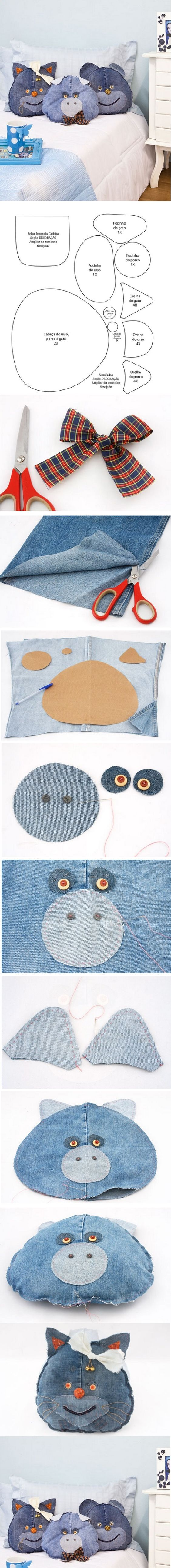 DIY Funny Jeans Pillows: