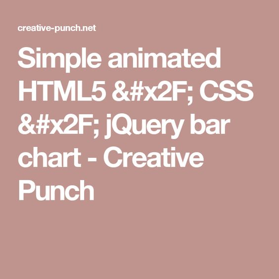 Simple animated HTML5   CSS   jQuery bar chart - Creative Punch - what is a bar chart