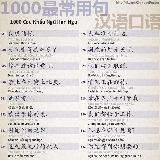 1000 Câu Khẩu Ngữ - Phần 21: