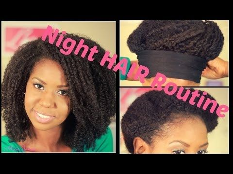 how to manage natural hair at night