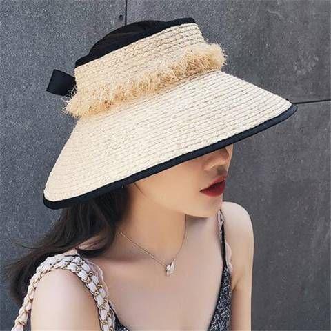 Https Www Buyhathats Com Frayed Raffia Sun Hat Women Packable Sun Visor Hats Summer Wear Html Sun Visor Hat Raffia Sun Hat Visor Hats