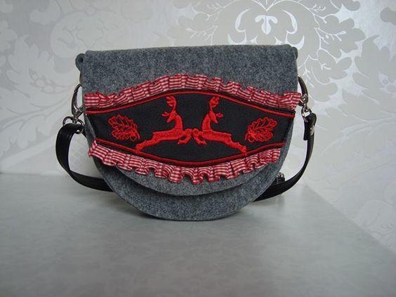 Trachtentasche, Dirndltasche, Filztasche MARGOT von *Margot-Atelier* auf DaWanda.com