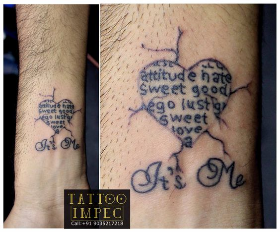 # Attitude # ;)  Get inked from Experienced Tattoo Professional.. Call: Sunil C K @ +91 9035217218 to book your appointment.  www.facebook.com/tattooimpec