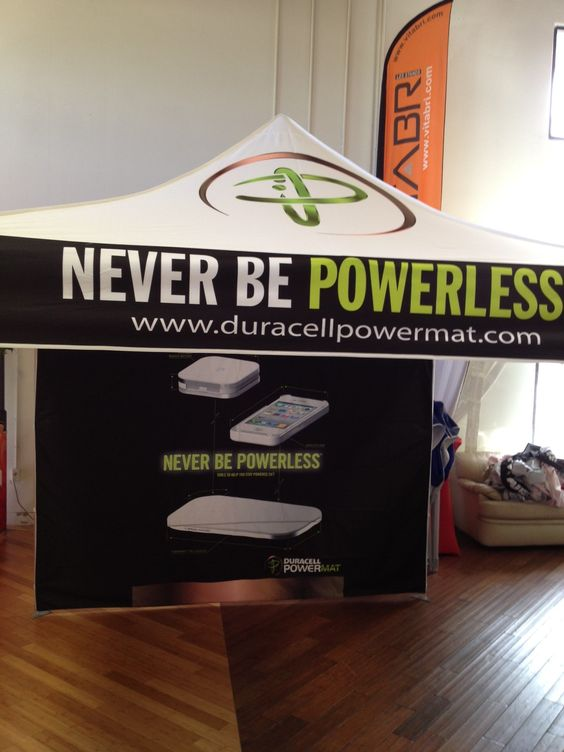 Tent for Duracell.