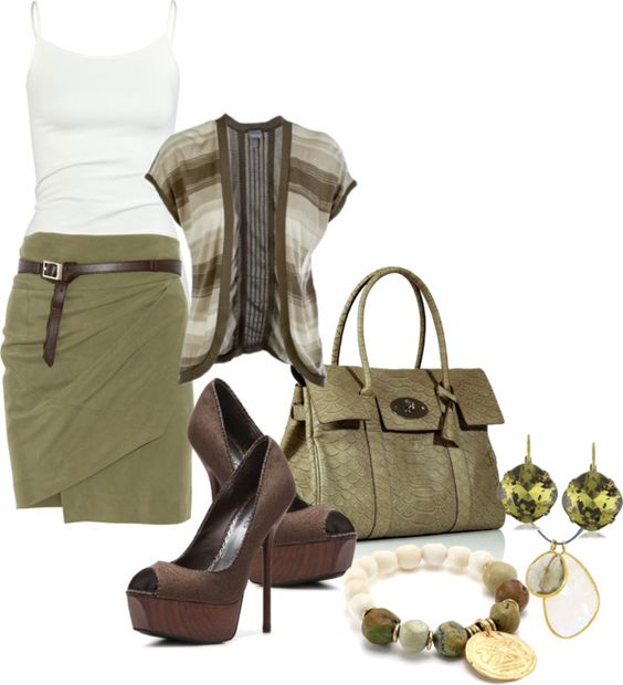 Olive and chocolate: Olive Green, Chic Outfits, Terrific Green, Casual Outfit, Outfits Terrific, Dream Closet, Fashionista Trends, Work Outfits