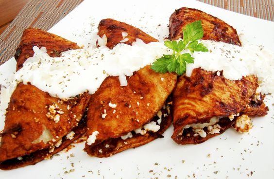 Enchiladas tipo potosinas recetas de cocina pinterest for Tipos de encielados