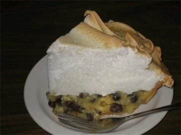 Sour Cream Raisin Pie recipe from The Farmer's Kitchen in Atlantic, Iowa: