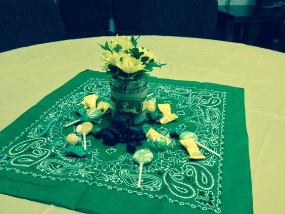 John Deere Table Decorations : Our john deere baby shower table center piece glenn