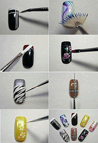 Ardisle 20pcs Nail Art Designing Painting Dotting Drawing Dot Pen Brushes Tool…