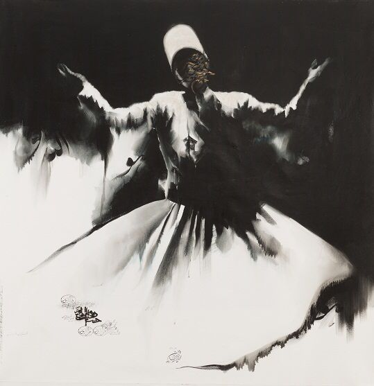 My painting of dance dervish