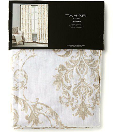 Tahari Home Paisley Scrolls Medallions Window Panels 52 by 96-inch Set of 2 Floral Paisley Scrolls Window Curtains Hidden Tabs Beige Taupe Tan White Tahari Home http://www.amazon.com/dp/B0117R3RNQ/ref=cm_sw_r_pi_dp_3llaxb17DFXA6