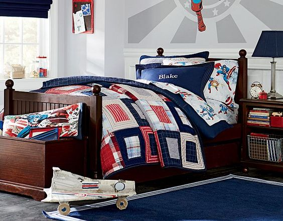 Pottery barn kids captain america and pottery barn on for Captain america bedroom ideas