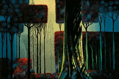 The last remaining leaves before the fall   And leave the slender treetops straight and tall ~Eyvind Earle