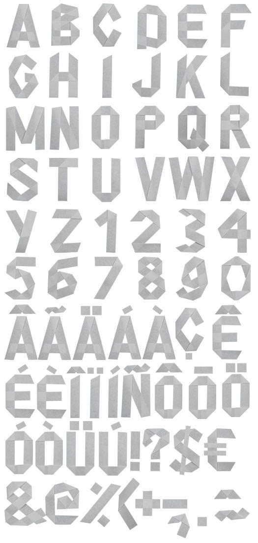 Origami #paper #font #alphabet