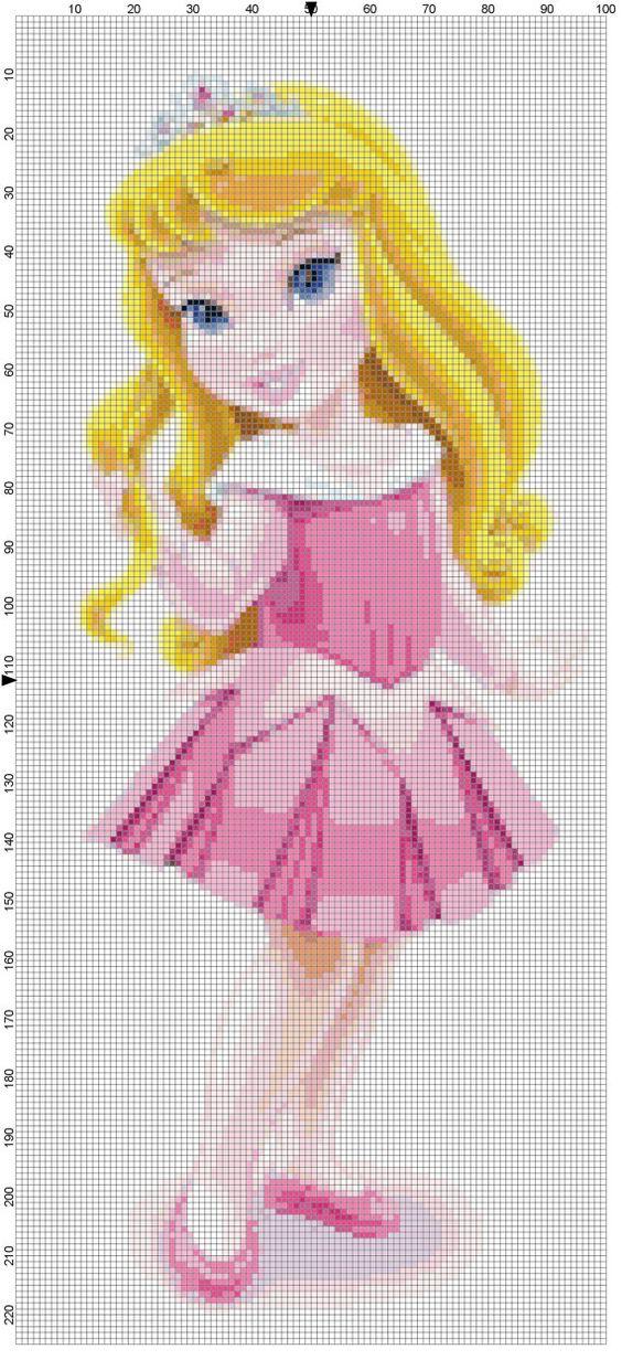 Mini Aurora cross stitch pattern PDF by Bluegiantstitch on Etsy, £1.20