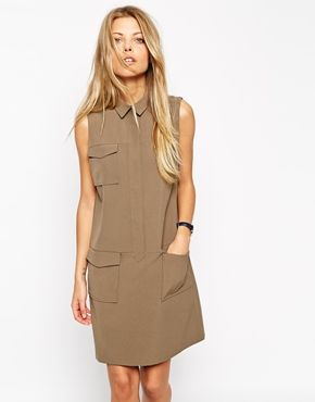 Utility vibes are massive for SS15; get ahead now and team this babe of a dress with tights while it's chilly out.
