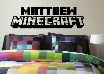 Minecraft Inspired Personalized Wall Decal