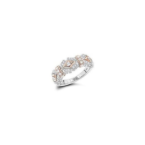 Designer Diamond Ring For Women 0.85ct White and Yellow Diamonds 14K... (3,650 BAM) ❤ liked on Polyvore featuring jewelry and rings