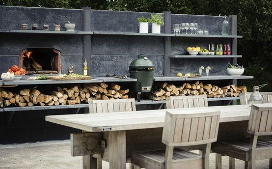 WWOO Concrete Outdoor Kitchen : Industrialer Garten von NewLook Keukenstudio