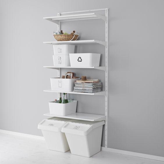 algot systeem ikea dagrommel wandkast kast opbergmeubel slimme oplossingen pinterest. Black Bedroom Furniture Sets. Home Design Ideas