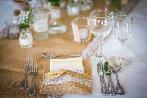 Tischdeko Vintage Jute Hochzeit Wedding Vintage