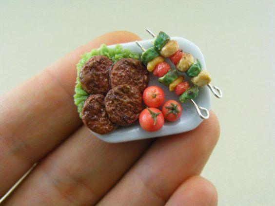 Miniature Food Sculptures artist: Shay Aaron