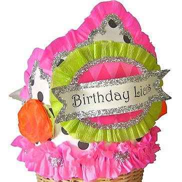 Whimsy polka dot rosette Birthday Crown