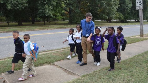 Carl Schneider, a Special Education teacher at Whitney Achievement Elementary School in Memphis, TN, began walking his students home from school three years ago when he realized that most of the kids walked alone through dangerous neighborhoods. Now, he's started an amazing trend.