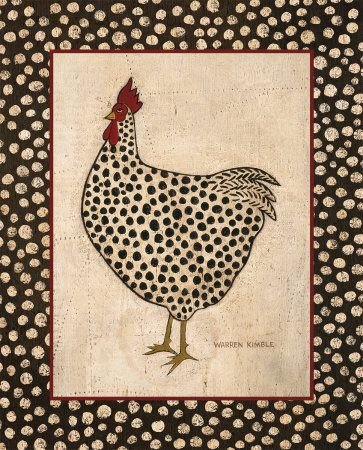 Folk Art-Spotted chicken