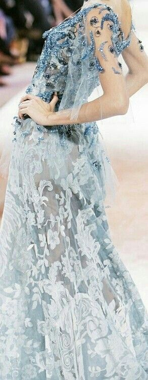 Love the color of the lace!