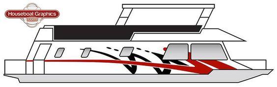Houseboatgraphicsdesign Graphics And Mockup - Custom designed houseboat graphics
