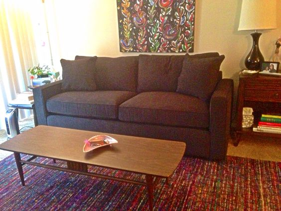 My very own Filmore sofa and silk rug from Arhaus My job is the