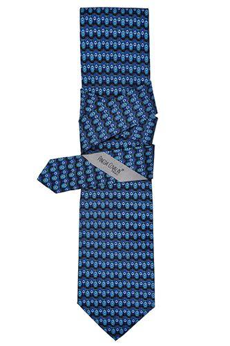 #Corbata #Slim Pavo Real Marino. #Diseño #Estilo #México #PinedaCovalin #Tie