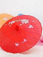 ombrelle de soie rouge