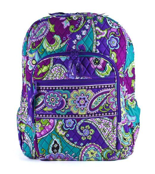 vera bradley campus backpack english rose clothing christmas want pinterest. Black Bedroom Furniture Sets. Home Design Ideas